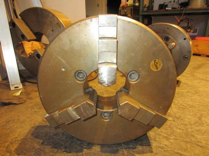 """Used 12"""" 3-jaw Rohm Chuck, DIN-8 Mounting, 4"""" bore"""