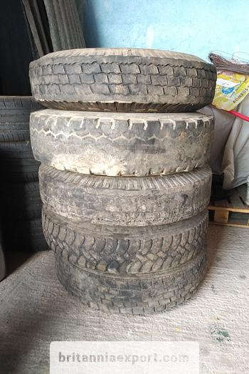 Used Toyota 5 x used 7.50 - 16 LT tyres on 6 studs rims