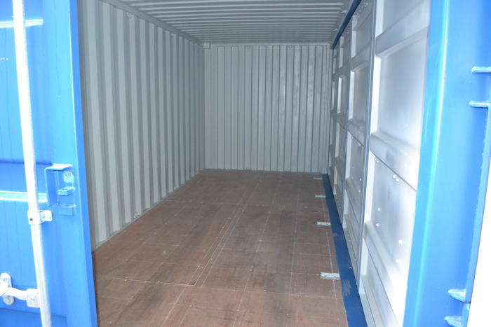 "20 'Container 9'6 ""Left side Open"