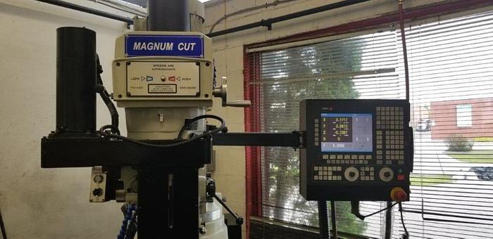 """10"""" X 54"""", MAGNUM-CUT 4VS, 2017, CNC VERTICAL MILLING MACHINE"""