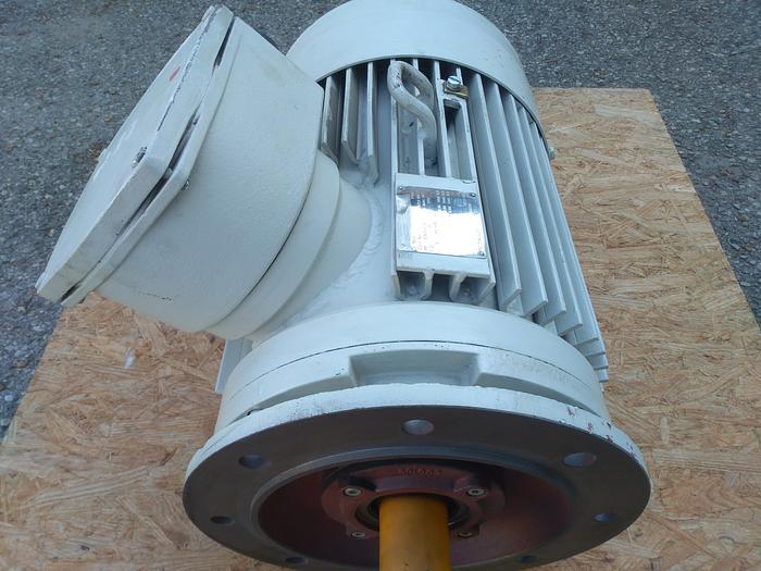 Ex geschützter Flanschmotor, Elektromotor, Drehstrommotor Dex 180 M/4K, HEW, 18,5 KW, neuwertig