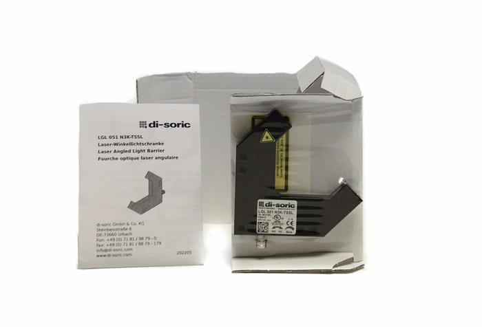 Di Soric LGL 051 N3K-TSSL Laser Angled Light Barrier NEW (4093)