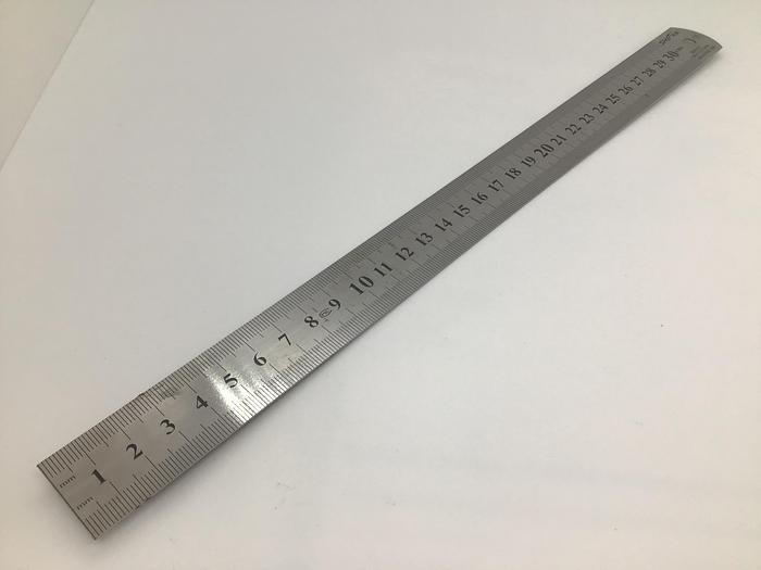 Ruler Graduated Steel 12ins 300mm Wide Stainless Steel
