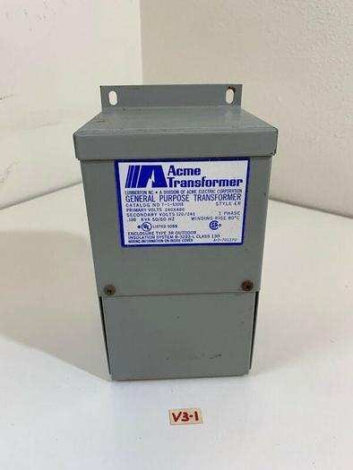 Acme T-1-53005 Transformer 240x480 120/240V 1-Phase .100KVA *New~Fast Shipping*