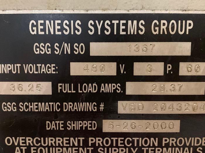 FANUC ARCMATE 120IC/10L YR. 2011 GENESIS VERSA 2G DUAL TRUNNION MIG WELDING CELL YEAR 2000