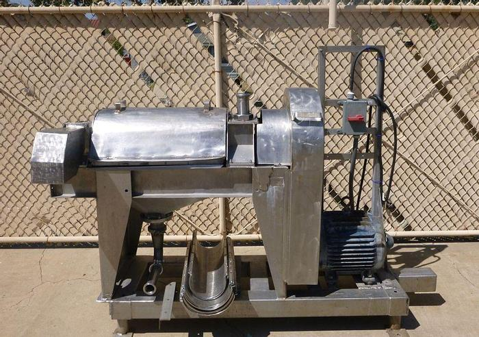 Used BROWN PULPER FINISHER MODEL 4000 - S/S - 15 HP