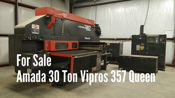 Used Amada Machines 1998 30Ton Vipro 357 Queen