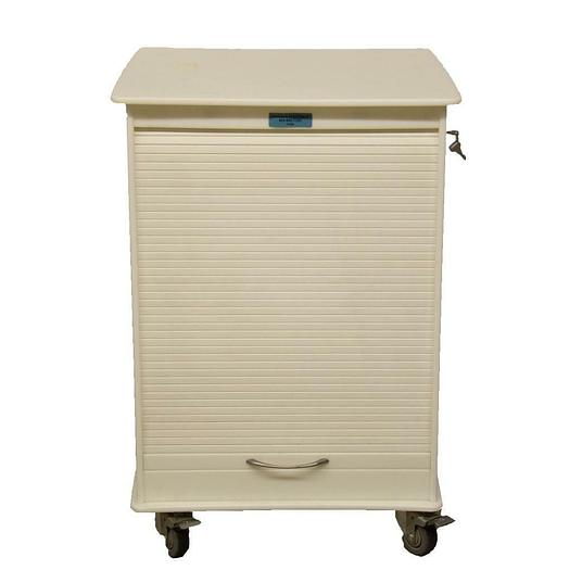 Used Unicell Medical Grade Rolling Locking Storage Cabinet Cart / Workspace (7400)R