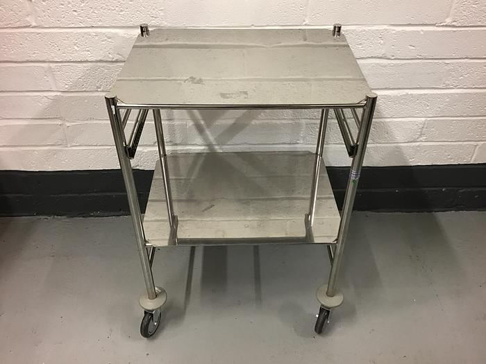 Used Trolley stainless steel 2 shelves 600x460mm