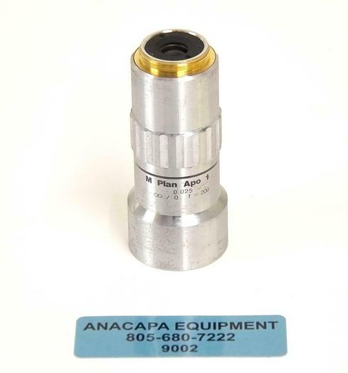 Used Mitutoyo 378-800 M Plan Apo 1x 0.025 Microscope Objective USED (9002) R