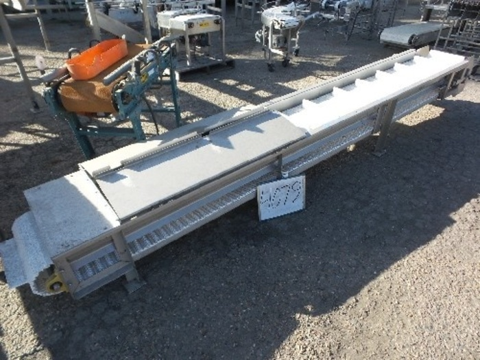 18'' wide x 13' long Intralox Flited Belt Elevator #4079