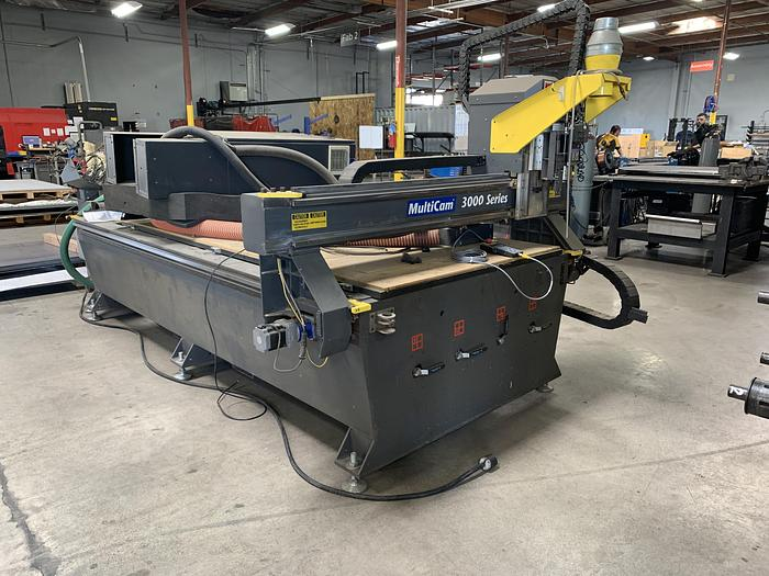 Used Multi-Cam 3000 Series CNC Router
