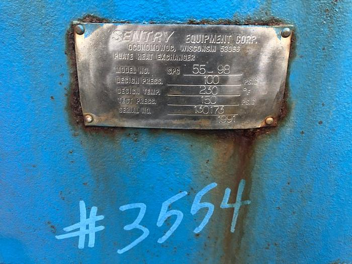 1991 Sentry Plate Heat Exchanger #3554