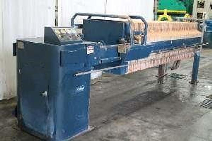 Used 25 CU. FT. PACIFIC FILTER PRESS – AUTOMATIC – C.G.R. – PLATE SHIFTER (#9228)