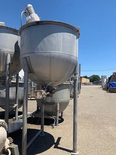 Used 500 Gallon Lee Stainless Steel Mixing Kettle Model 500 A7S