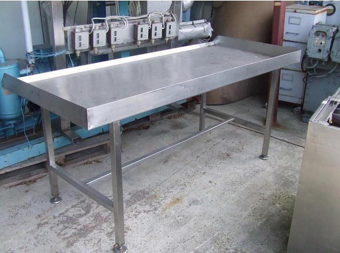 Używane Stół z burtami - nierdzewny