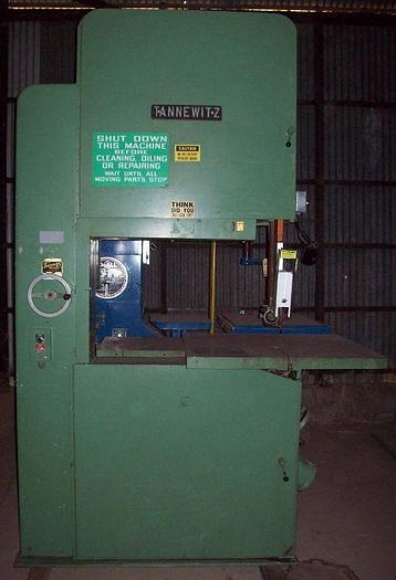 "36"" Tannewitz Model G1NE Vertical Band Saw; S/N 80129"