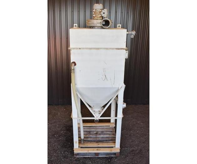 USED TOTE/BAG DUMPING STATION WITH DUST COLLECTOR