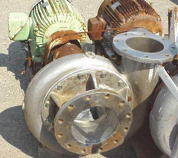 "USED CENTRIFUGAL PUMP, 10"" X 8"" INLET & OUTLET, STAINLESS STEEL"