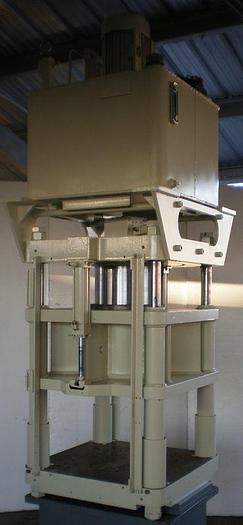 120 Ton Fisher / Precision Model AJF-7 4-Post Hyd. Press; Down-Acting Type; Mfg. 2006; S/N 42;
