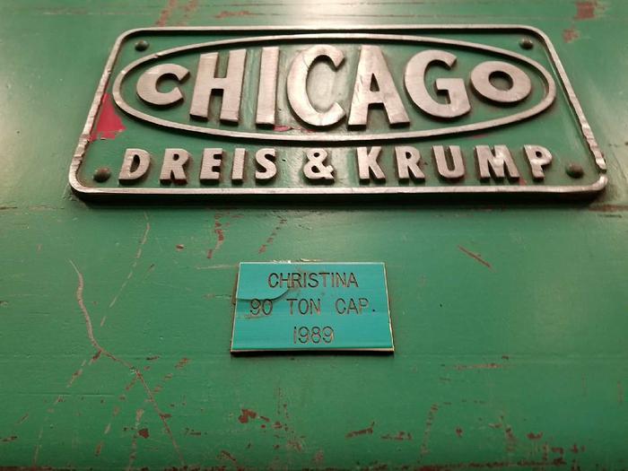 CHICAGO DREIS & KRUMP 12 FT Press Brake 90 Tom