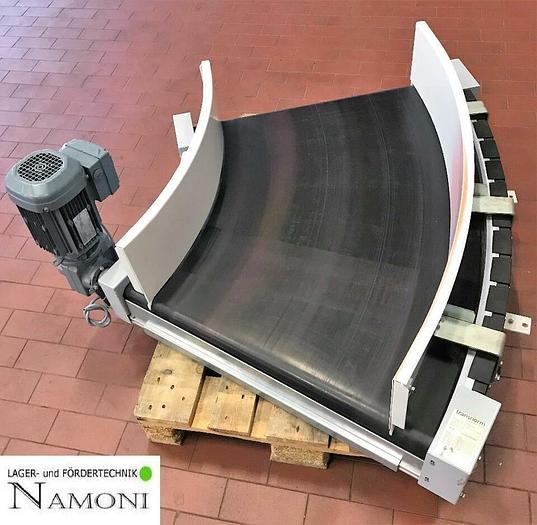 Gebraucht TRANSNORM Kurvengurtförderer Transnorm 45° Rechts 1500-80