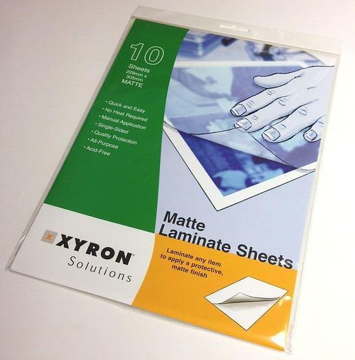 Xyron Matte Single-Side Laminate A4 Protective Sheets 229mm x 305mm (100)