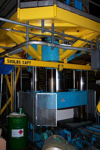 Used BALE PRESS RAUMA REPOLA MODEL 1000/20 HG 1000 TON