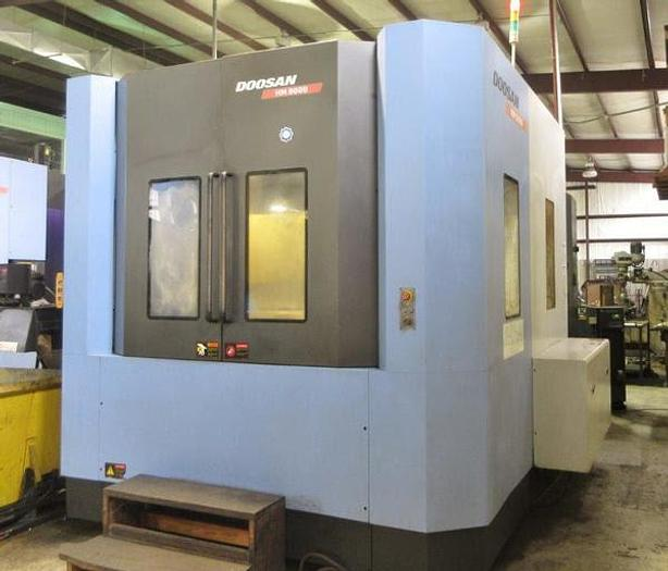 Used DOOSAN HM 8000 HORIZONTAL MACHINING CENTER