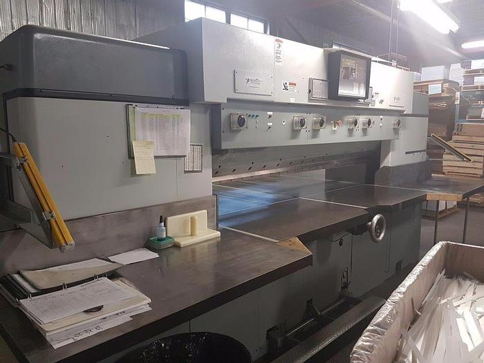 """Used 87"""" (2.20M) LAWSON GUILLOTINE PAPER CUTTER 100"""" CUT LENGTH"""