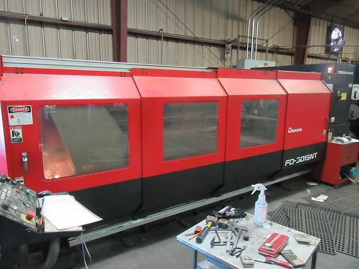 Used 2009 4000 Watt Amada FO-3015NT CNC Laser