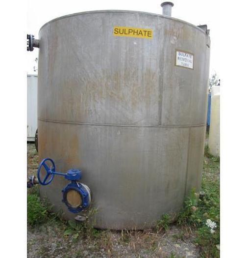 Used USED 3800 GALLON TANK, 316 STAINLESS STEEL