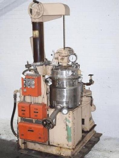 Used 6 GALLON (25 LITER) ABBE DISPERSALL MIXER – S/S – VACUUM – JACKETED #6909
