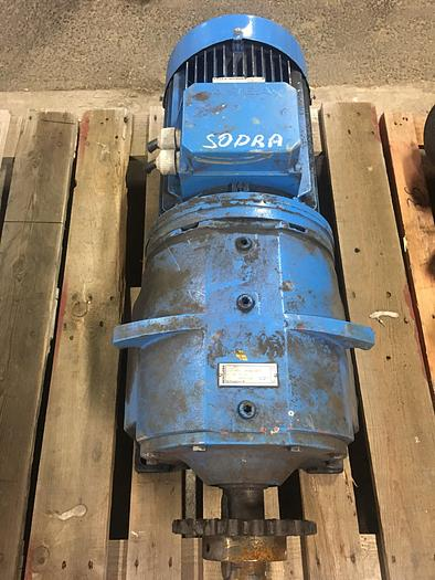 Used 7,5 kW, ASEA, Electric motor with reducer