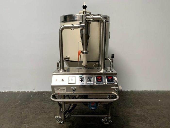 Used Niro Mobile Minor Stainless Steel Spray Dryer 7 Kg Per Hr Evaporation Rate