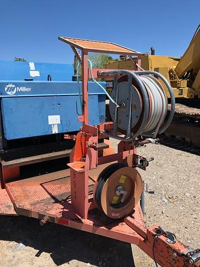 Used HB18252 compressor welder trailer