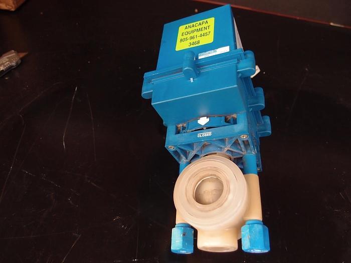 Used True Blue EBV-104 Plast-O-Matic Electric Actuator (3468)