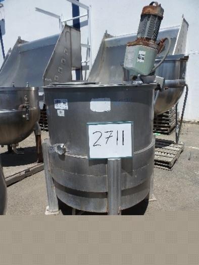 250 Gallon Vertical Jacketed MixTank #2711
