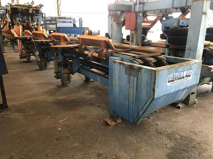 Used Remill AB, log block conveyor