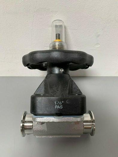 "Used ITT Pure-Flo 1.5-316L-RA25MAX-CWP150 Diaphragm Valve w/ 1 1/2"" Sanitary Fittings"