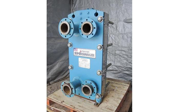 USED HEAT EXCHANGER, PLATE, 50.4 SQ. FT., STAINLESS STEEL