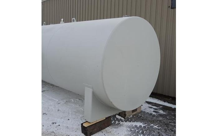 USED 3900 GALLON TANK, CARBON STEEL, HORIZONTAL WITH EPOXY LINING