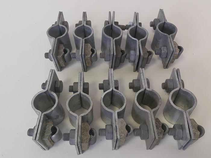 18 Stück Erdungsschelle, schwere Ausführung, D 27 bis D 35 mm,  neuwertig