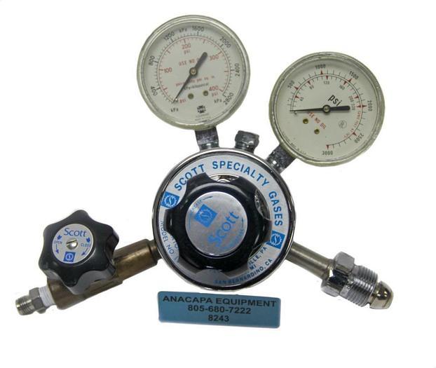 Used Scott Specialty Gas Regulator Model 18C, 5118C580 CGA-580 (8243)W