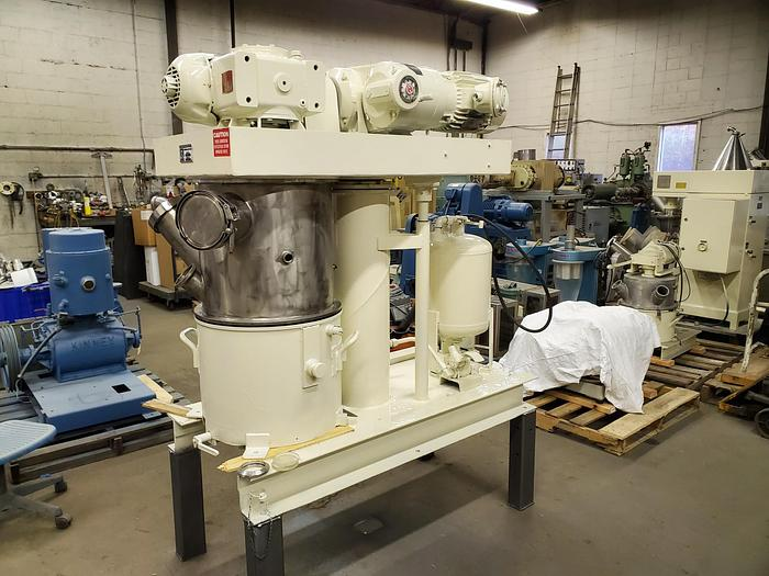 Used 10 GALLON ROSS DOUBLE PLANETARY MIXER – S/S – VACUUM & JACKETED - 3 HP/XP (#9529)