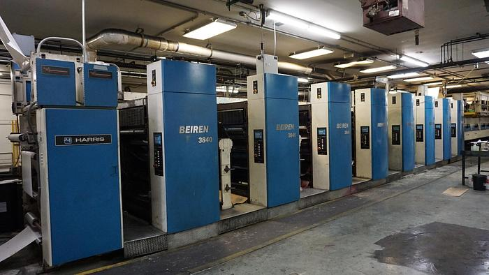 "Used 2004 Beiren 3840 (8) Unit (2) Web Offset Press System / 22.776"" (578.5mm) Cutoff"