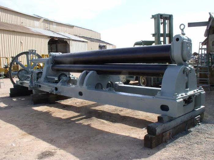 "16' x 7/8"" Hilles & Jones Plate Bending Roll; Pyramid Type; Vari-Speed; Hyd. Drop End; New Controls; Recon.; 50 HP Main Drive"
