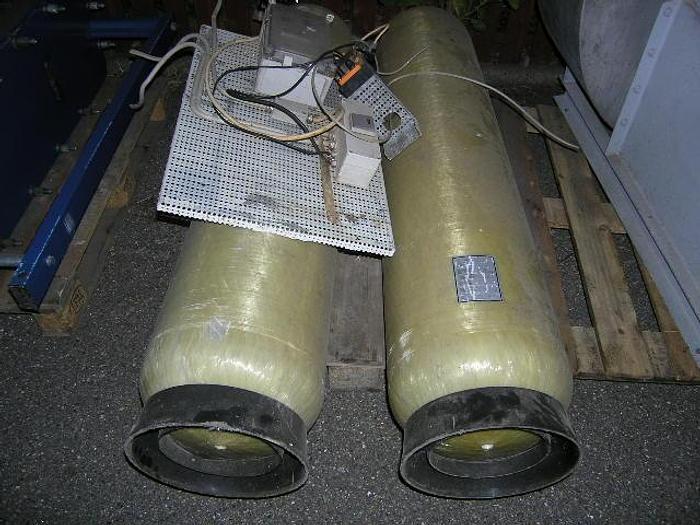 Used 7310094. 2 SFC water treatment units, type 1465, 140 liter, max=10,5 bar, max=50 gr. C., yield=4000 l/h,