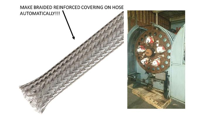 Used Stainless Steel Hose Braided Braiding Machine Reinforced Hose Spiraller