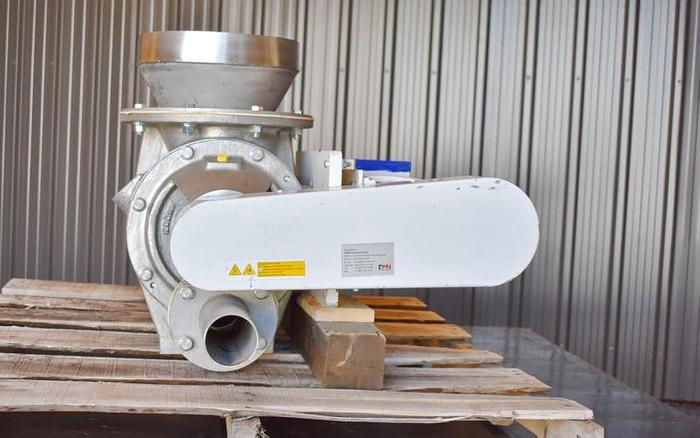 """USED DMN WESTINGHOUSE ROTARY AIR LOCK VALVE, SIZE: 8"""", STAINLESS STEEL"""